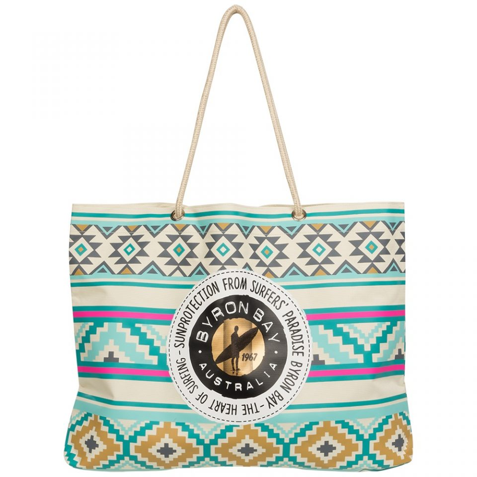 Byron Bay beach bag aztec colour gevuld