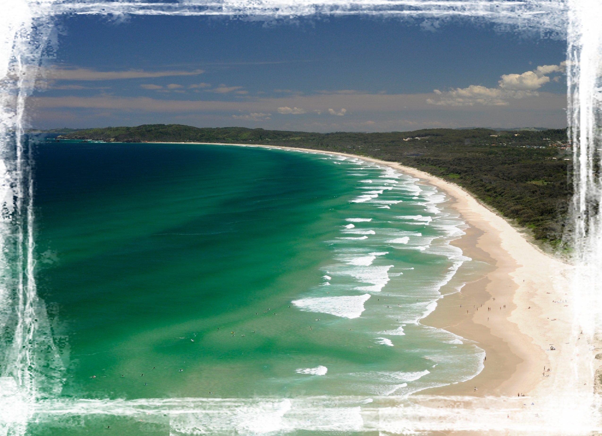 Byron Bay Sweeping Beach Scene Byron Bay Suncare